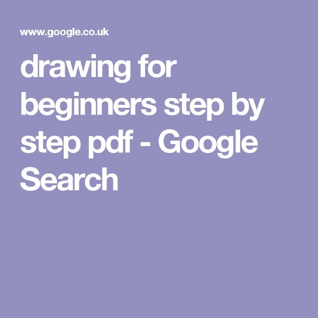 pdf how to draw for beginners