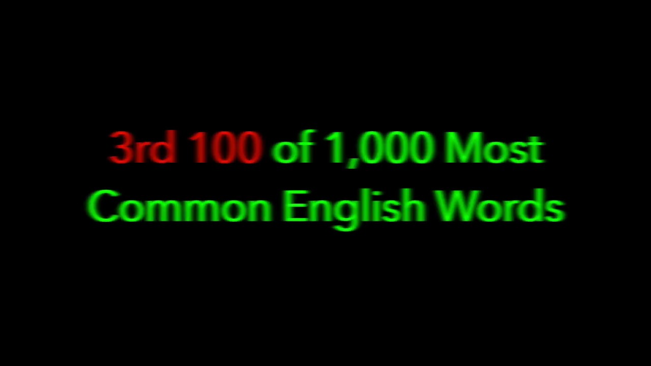 100 most common words in english pdf