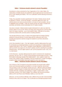 cell phones should not be allowed in school essay pdf