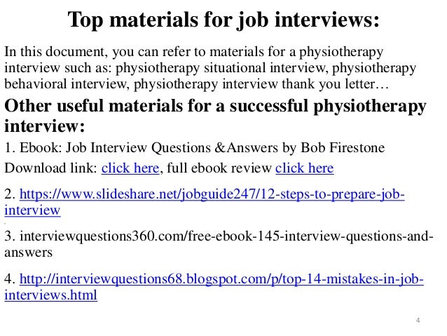 physiotherapy interview questions and answers pdf