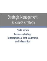 cost leadership and differentiation strategy pdf