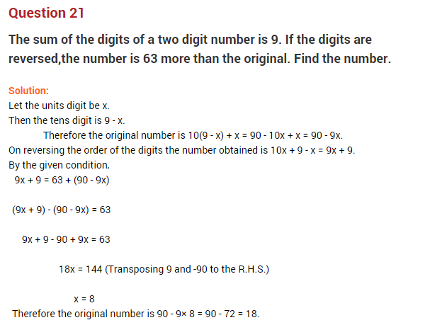 linear equations in one variable word problems class 8 pdf
