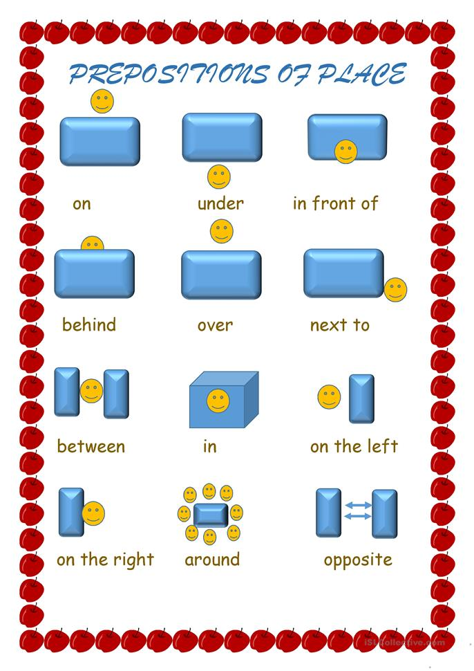 prepositions of movement exercises pdf