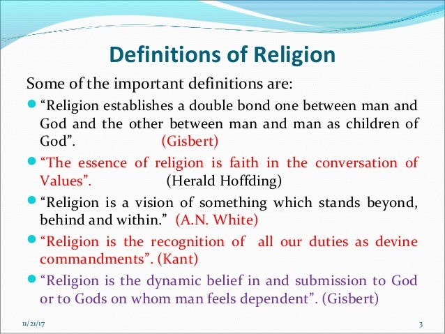 definitions of religion by philosophers pdf