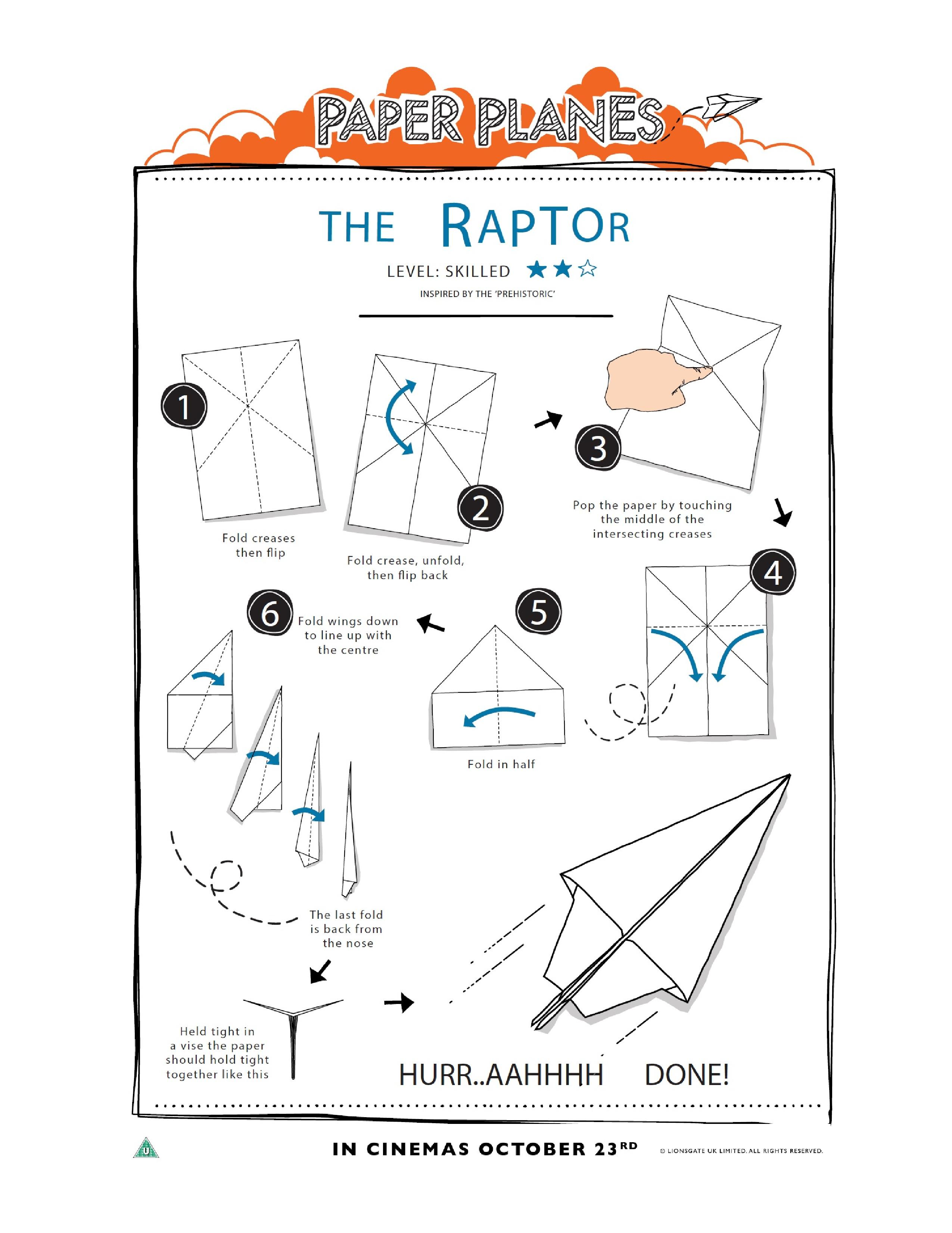 wings for paper airplanes pdf to print
