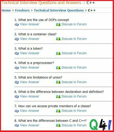 c++ interview questions and answers pdf