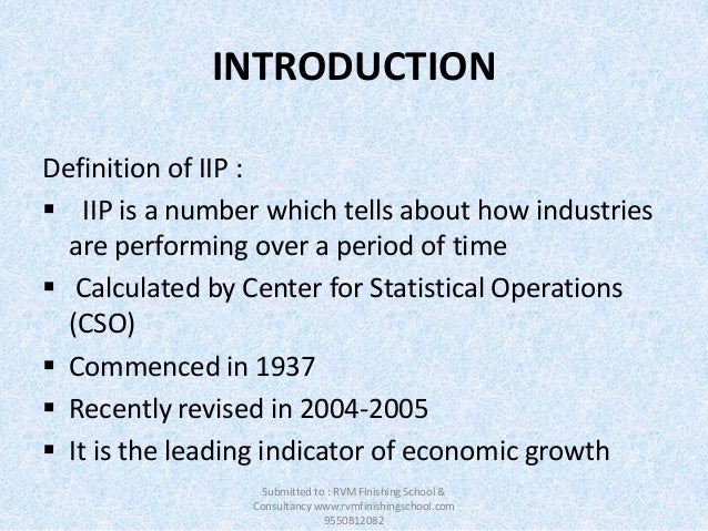 industrial production index definition pdf