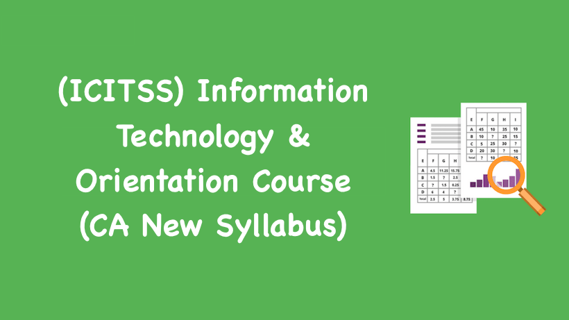 information technology course outline pdf
