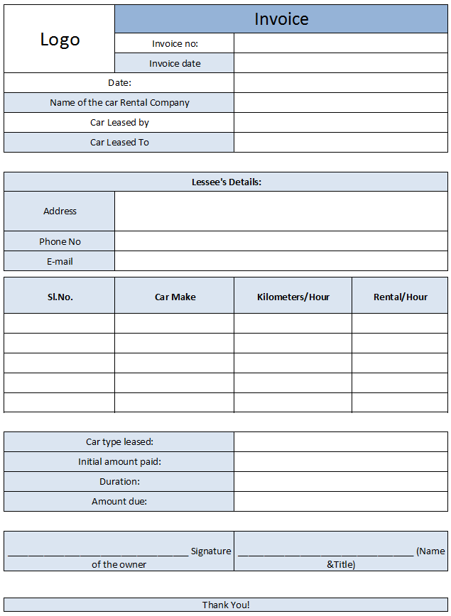 how to make invoice in excel pdf