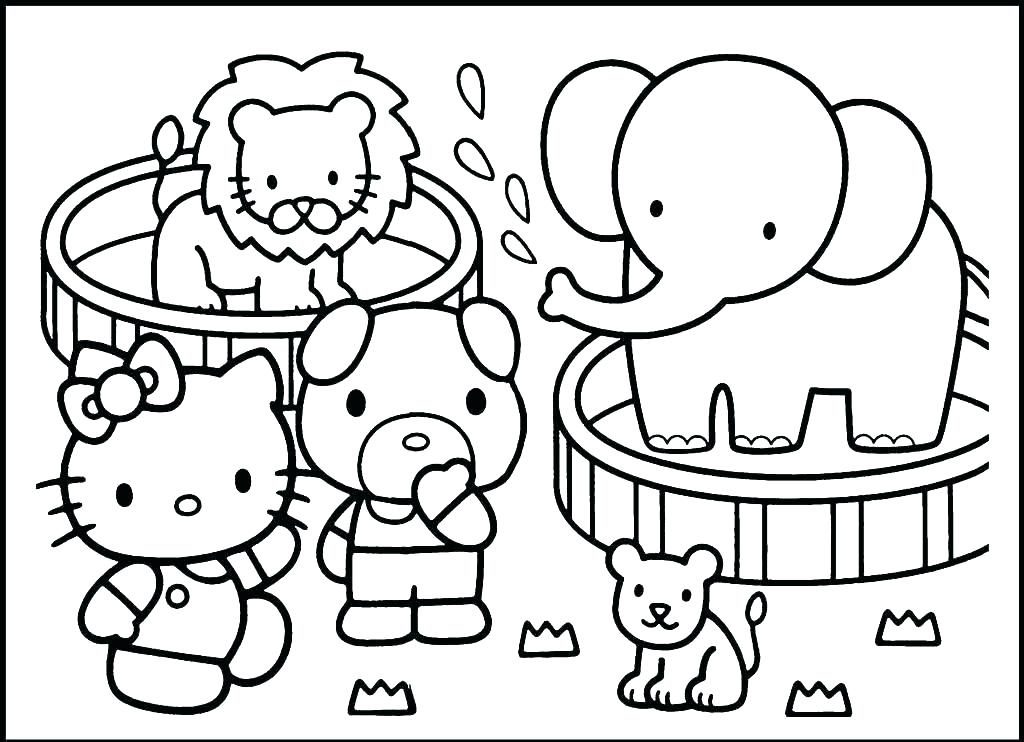 zoo animals coloring pages pdf