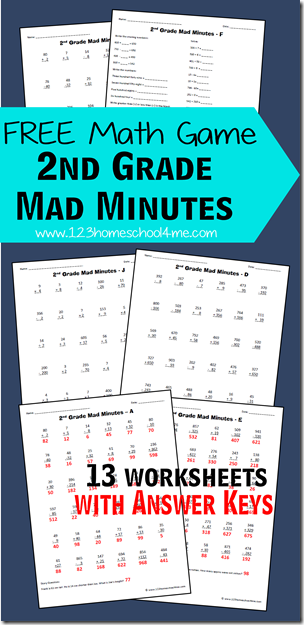 mad minute math multiplication pdf
