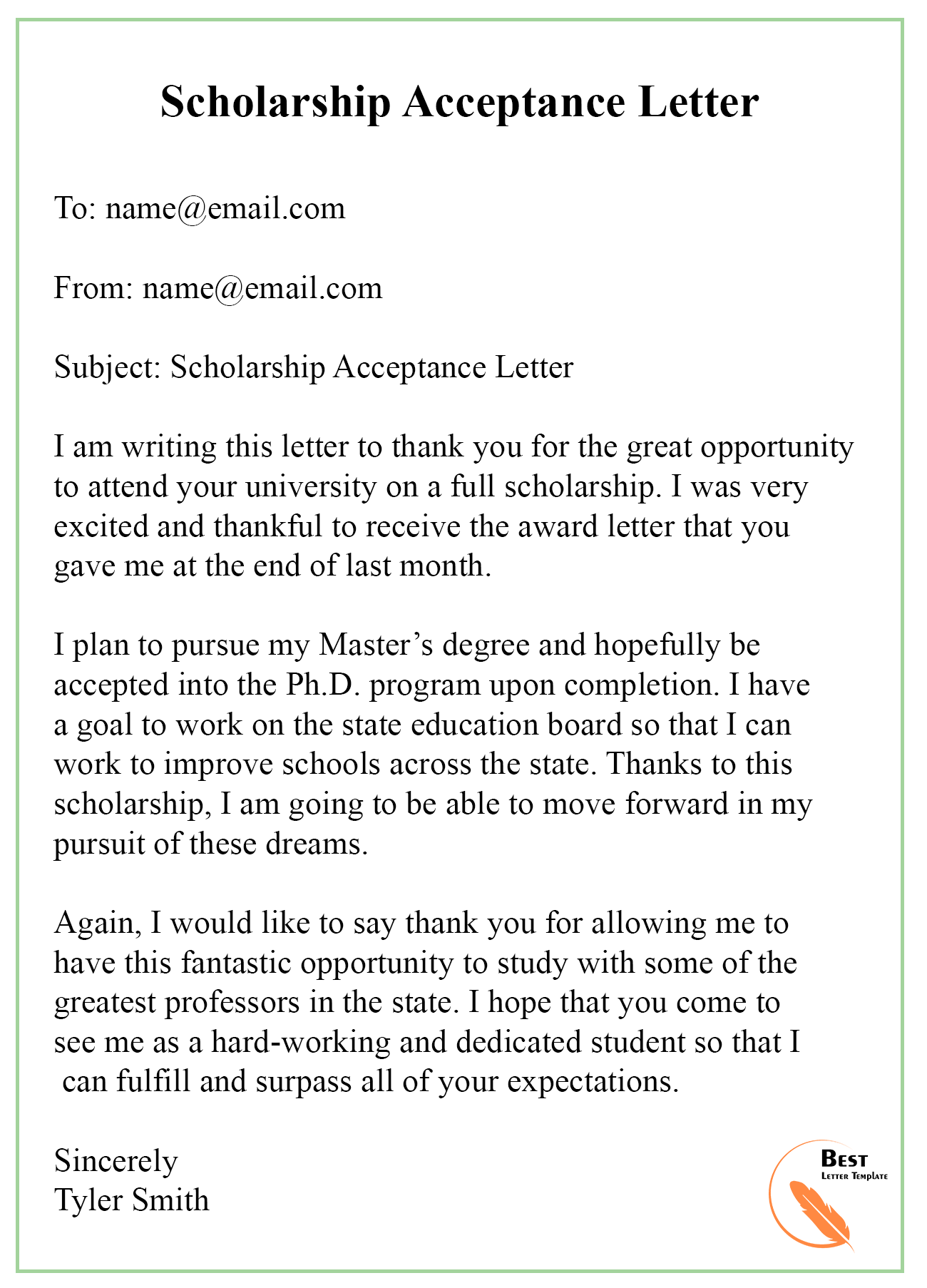 how to write a scholarship letter pdf