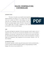 automatic fan controller project report pdf
