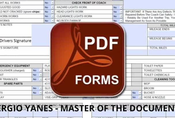 convert pdf into fillable form
