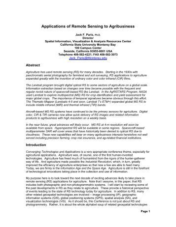 application of gis in agriculture pdf