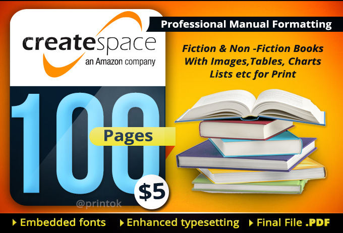 best pdf settings for createspace