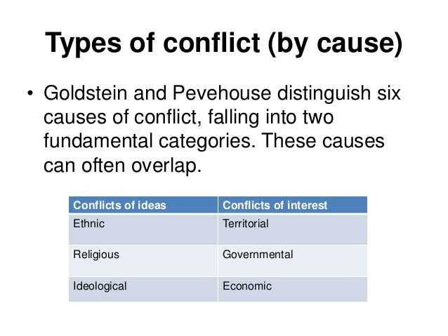 causes of international conflict pdf
