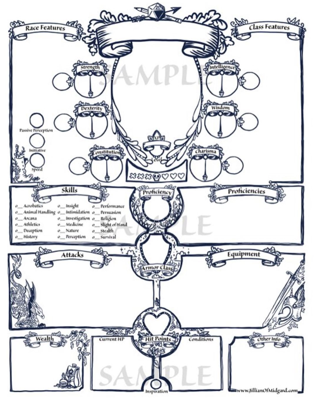 d and d 5e character sheet pdf