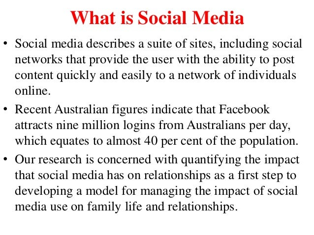 effects of social media on family relationships pdf
