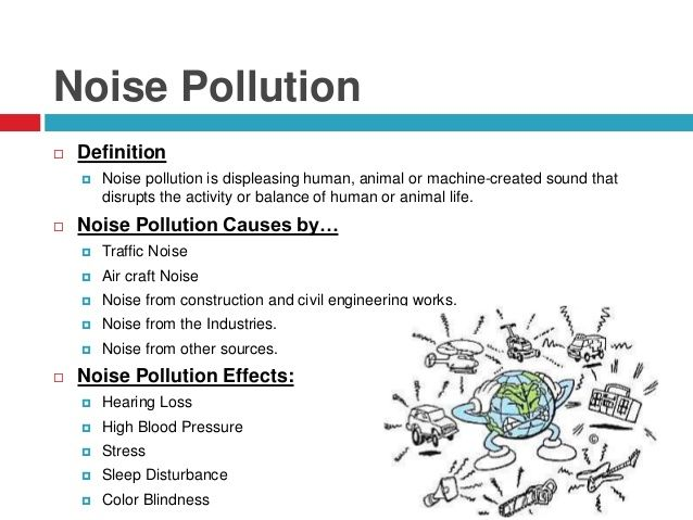 noise pollution causes effects and prevention pdf