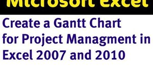 how to make a gantt chart in excel 2007 pdf