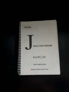 kumon j solution book pdf