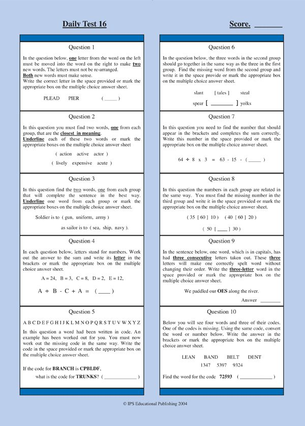 non verbal reasoning practice papers pdf
