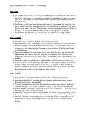 taming of the shrew study guide pdf
