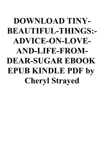 tiny beautiful things by cheryl strayed pdf