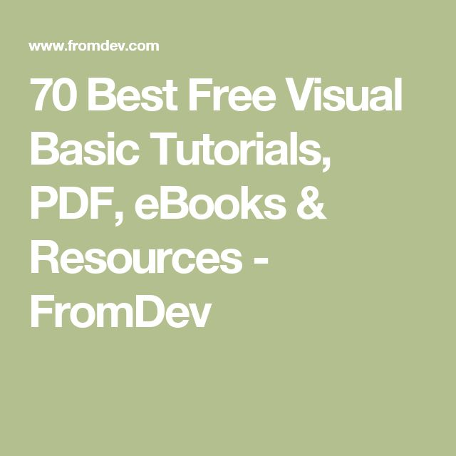 visual studio 2008 tutorial for beginners vb.net pdf